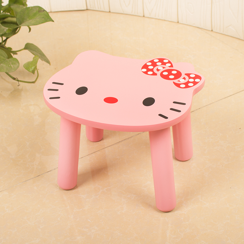 Children's Stool Wood Cute Cartoon Animal Small Bench Home Fashion Creative Shoes Bench Wood Stool Sofa