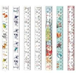 아이들을위한 캔버스 높이 통치자 만화 인쇄 장식 성장 차트 벽 측정 눈금자 어린이 높이 기록
