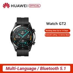 Ursprüngliche Globale Version HUAWEI Uhr GT 2 GT2 GPS 14 Tage Arbeiten Wasserdichte Telefon Intelligente Call Herz Rate Tracker Für android iOS