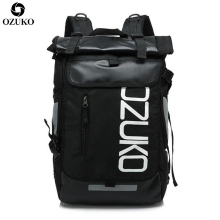 OZUKO Fashion School Backpack Men Large Capacity Travel Bag Casual Student School Bags For Women Waterproof Travel Mochila 2019