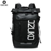 OZUKO Fashion School Backpack Men Large Capacity Travel Bag Casual Student School Bags For Women Waterproof Travel Mochila 2019