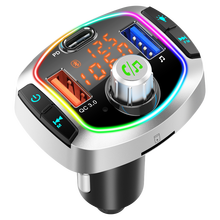 Multifunition Bluetooth 5.0 Car Kit Handsfree Wireless FM Transmitter Car MP3 Player with PD18W QC3.0 Quick Charge Car Charger