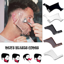 Men Beard Shaping Styling Tool moustache moulding Hairdressing Plastic Shaping Styling Template ruler combs Tool Stencil Beard