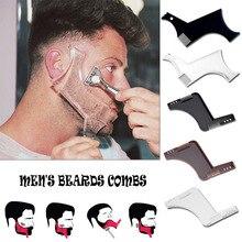 Nam Râu Định Hình Dụng Cụ Tạo Kiểu Tóc Moustache Moulding Làm Tóc Nhựa Định Hình Tạo Kiểu Bản Mẫu Thước Combo Dụng Cụ Stencil Râu