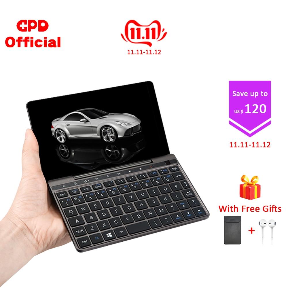 Gpd pocket 2 pocket2 8 gb 256 7 Polegada tela de toque mini pc bolso portátil portátil cpu intel celeron 3965y windows 10 sistema