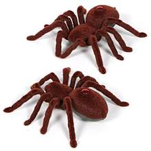 New Scary Remote Control Creepy Soft Plush Spider Infrared RC Tarantula Toy Kid Gift Infrared Remote Control Spider Dropshipping(China)