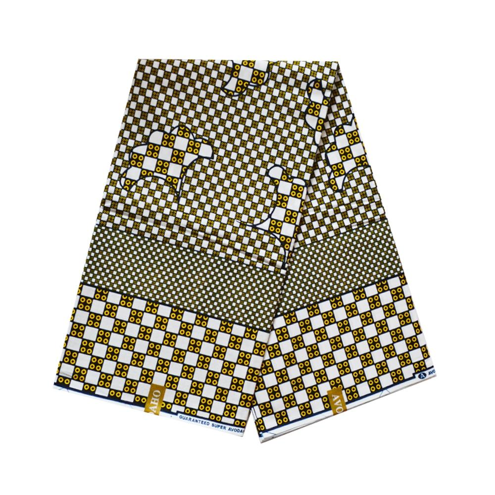 African Real Wax Fabric For Dress Africa Nigerian Ankara Printed Wax Fabrics Real Veritable Super Block Print Fabric 100% Cotton