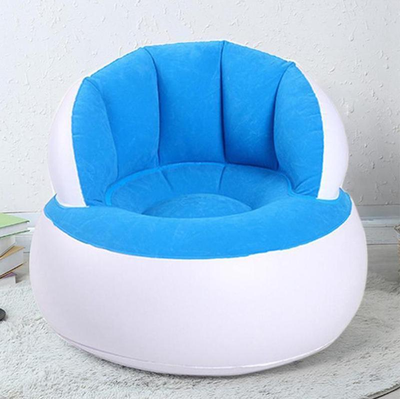 58*53cm Kids Pouf Chair For Sitting Relax Inflatable Sofa Comfortable