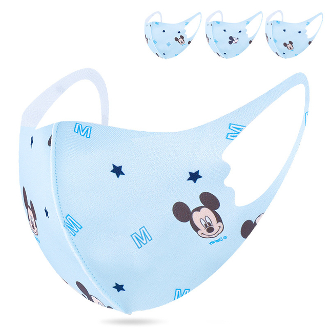 Disney Face Mouth Mask For Children Minnie Mouse Mickey Mouse Anti-Dust Protective Washable Face Mask for Boys Girls Kid toy 1