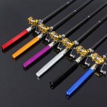 Катушка ручка удочка для рыбалки с карманной формой 95 см