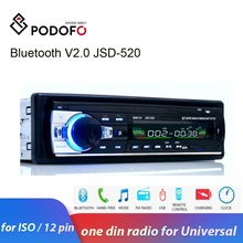 Podofo one din Car Radio Stereo FM Aux Input Receiver SD USB JSD-520 12V In-dash 1 din Car MP3 USB Multimedia Autoradio Player