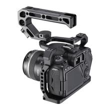 UURig Cage de caméra en Aluminium pour Canon EOS 90D/80D/70D avec monture de chaussure froide trou Arri 1/4 3/8 vis à Microphone moniteur LED