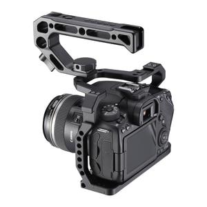 Image 1 - Алюминиевый корпус UURig для камеры Canon EOS 90D/80D/70D, с креплением на Холодный башмак, отверстие Arri 1/4, 3/8 дюйма, винт для микрофона, СВЕТОДИОДНЫЙ монитор