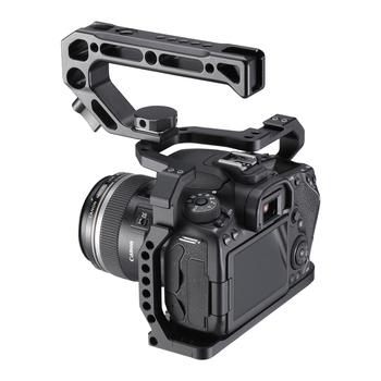 UURig aluminiowa klatka operatorska do Canon EOS 90D 80D 70D z zimnym uchwytem do butów Arri Hole 1 4 3 8 śruba do mikrofonu Monitor LED tanie i dobre opinie Ze stopu aluminium ze stopu aluminium