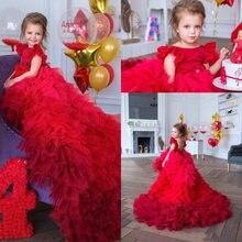 Новинка 2021 дизайнерские красивые платья для девочек с красными