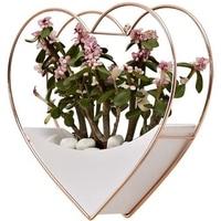 Casa sala de estar decoração de parede decoração do jardim vaso de flores decoração de suspensão de parede suculenta plantador vaso de flores coração pendurar cesta r|Vasos e agricultores| |  -