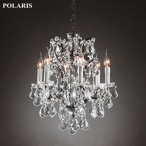 Image 3 - Vintage Rustic Crystal Chandelier Lighting Candle Chandeliers Pendant Lamp Hanging Light for Dining Room
