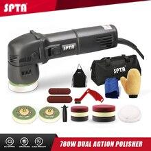 SPTA 3 인치 미니 자동차 폴리 셔 780W/10mm 듀얼 액션 폴리 셔 DA 자동차 폴리 셔 자동 폴리 셔 기계 스폰지 연마 패드 세트