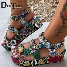 DORATASIA Big Size 34-44 Brand New Luxury Ladies Colorful Wedges Gladiator