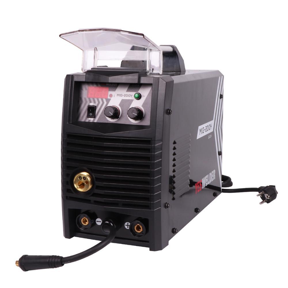 YYESWELDER MIG2010Y 200A Schweißen Maschine Keine Gas und Gas MIG Schweißer Einzelne Phase 220V IGBT Schweiß Maschine