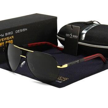 Baolang vintage aluminum men polarized sunglasses women classic brand sun glasses men coating lens driving eyewear