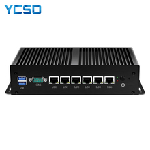 Firewall Router Mini PC Intel i3 7100U Celeron 1007U 1037U 4GB DDR3L di RAM 60GB SSD 6*1000mbp LAN RJ45 Pfsense Gateway Apparecchio
