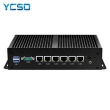 방화벽 라우터 미니 PC 인텔 i3 7100U 셀러론 1007U 1037U 4GB DDR3L RAM 60GB SSD 6*1000 메가비트/초 LAN RJ45 Pfsense 게이트웨이 어플 라 이언 스