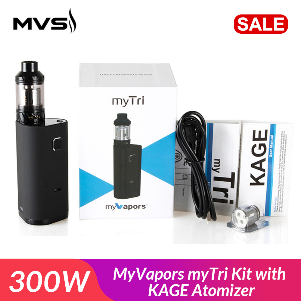 Original MyVapors MyTri Kit 300W With KAGE Atomizer Support VW/TC-NI/TC-TI/TC-SS/TCR Mode Vpae Kit Electronic Cigarette