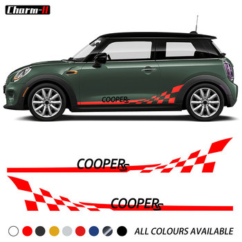 gift high quality car zinc alloy key holder cover bag case ring for bmw mini cooper one fun f54 f55 f56 r56 r57 r58 r59 r60 r61 2pcs Car Styling Car Door Side Skirt Checker Flag Stripes Decal Stickers for MINI Cooper S R55 R56 R58 R59 R60 F54 F55 F56 F57