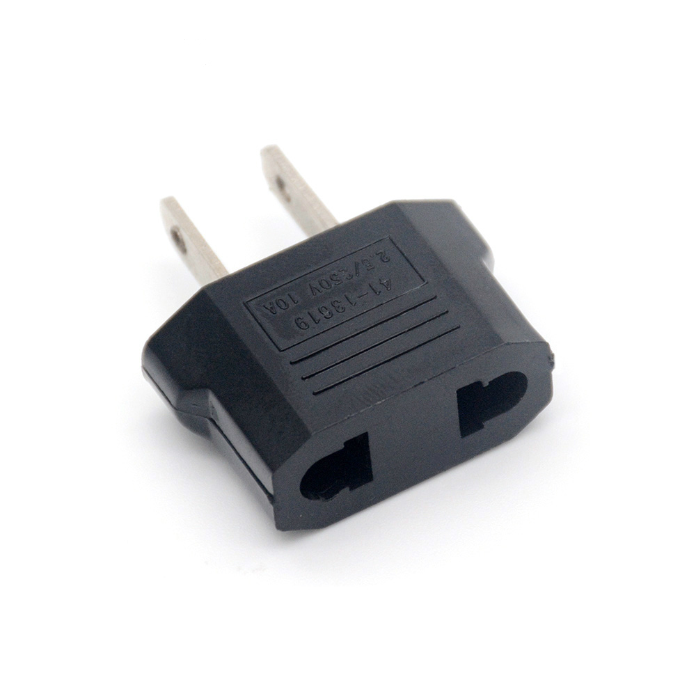 1/2/5Pcs EURO EU To US Travel Power Plug Adapter Converter Travel Conversion European To American Outlet Plug Adapter