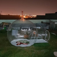 Outdoor Inflatable Camping Bubble Tent,Inflatable Lawn Dome Transparent Tents,air emergency tents,inflatable sealed tent shelter