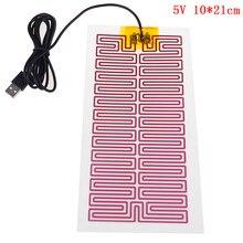 Tapis de Massage chauffant USB 5/12V, plaque chauffante Portable pour réchauffer le corps et les pieds en hiver, tapis de souris, chaussures Golves, soins de santé
