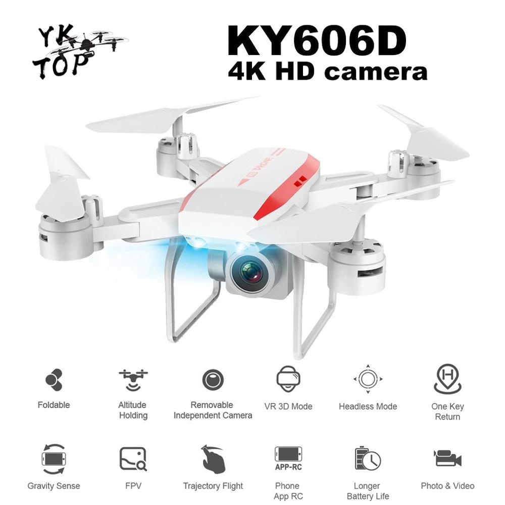 New Professional KY606D RC Foldable Drone Aircraft Long Fly Time FPV Helicopter 4K HD Wifi Camera VS KY601S Drone with 3 Battery image