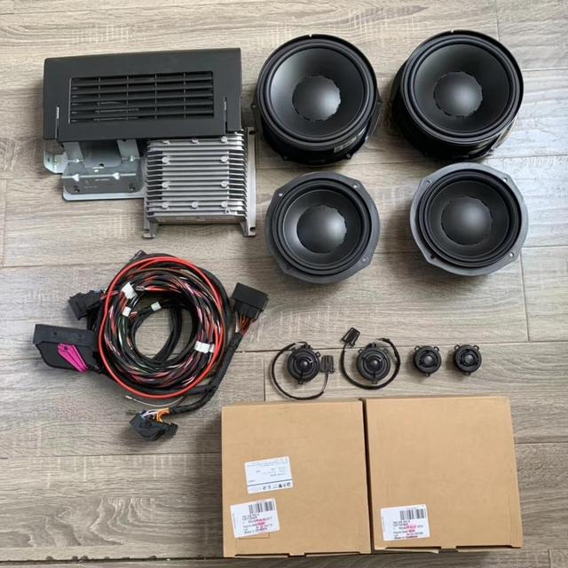 For SHARAN Dynaudio Speakers Set (4 Tweeter/4 Woofer/1 Amplifier) With Cables