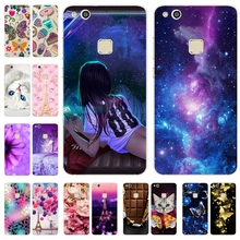 "Soft Silicone Case for Huawei P 10 Lite Cute Printing Painted Back Cases Cover FOR Coque Huawei P 10 P10 lite 5.2"" Bumper Capa"