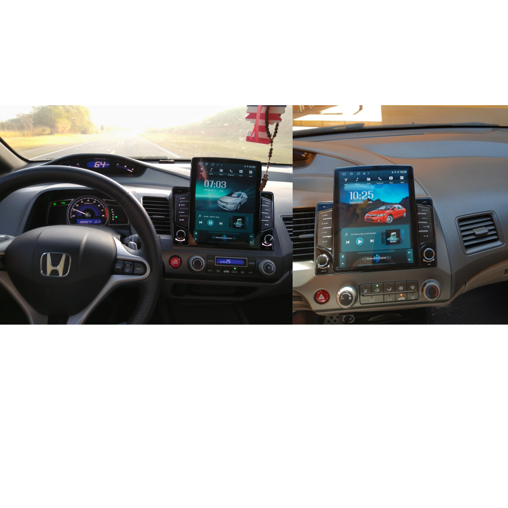 Image 5 - Eight Core/Android 9.0 Car Multimedia Player DVD Gps For Honda Civic 2006 2011 Radio IPS Screen 2DIN 10.1inch Radio Video BT2 din 10.12 dindvd car gps -