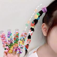 10 шт/компл детские резинки для волос с фруктами эластичная