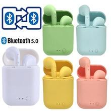 Mini TWS bezprzewodowe słuchawki Bluetooth 5.0 słuchawki matowe słuchawki douszne bezprzewodowe słuchawki do telefonu iphone xiaomi