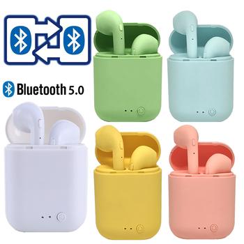 Mini TWS bezprzewodowe słuchawki Bluetooth 5 0 słuchawki matowe słuchawki douszne bezprzewodowe słuchawki do telefonu iphone xiaomi tanie i dobre opinie EDS EIDESS Dynamiczny CN (pochodzenie) wireless 42±5dBdBdBdB 0Nonemmm do telefonu komórkowego Do gier wideo Słuchawki HiFi