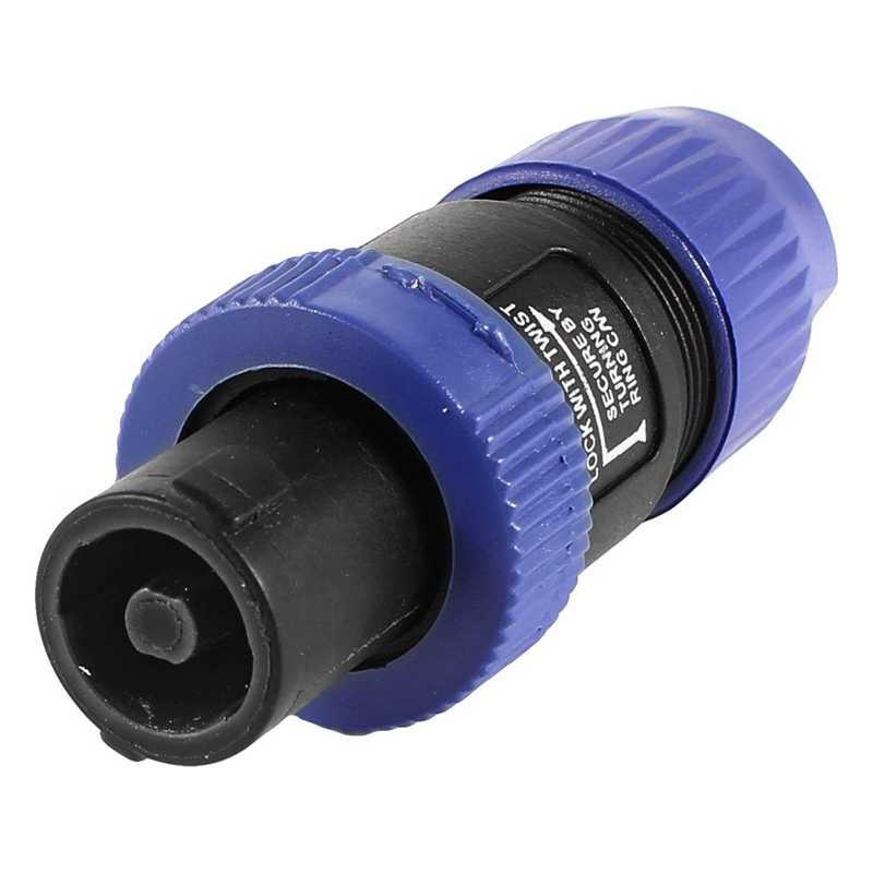 Hot AMS-Twist Locking Spreken-on Speaker Kabel Versterker Mannelijk Connector Plug