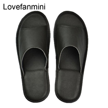 Genuine Cow Leather slippers couple indoor non slip men women home fashion casual single shoes PVC soft soles spring summer 504