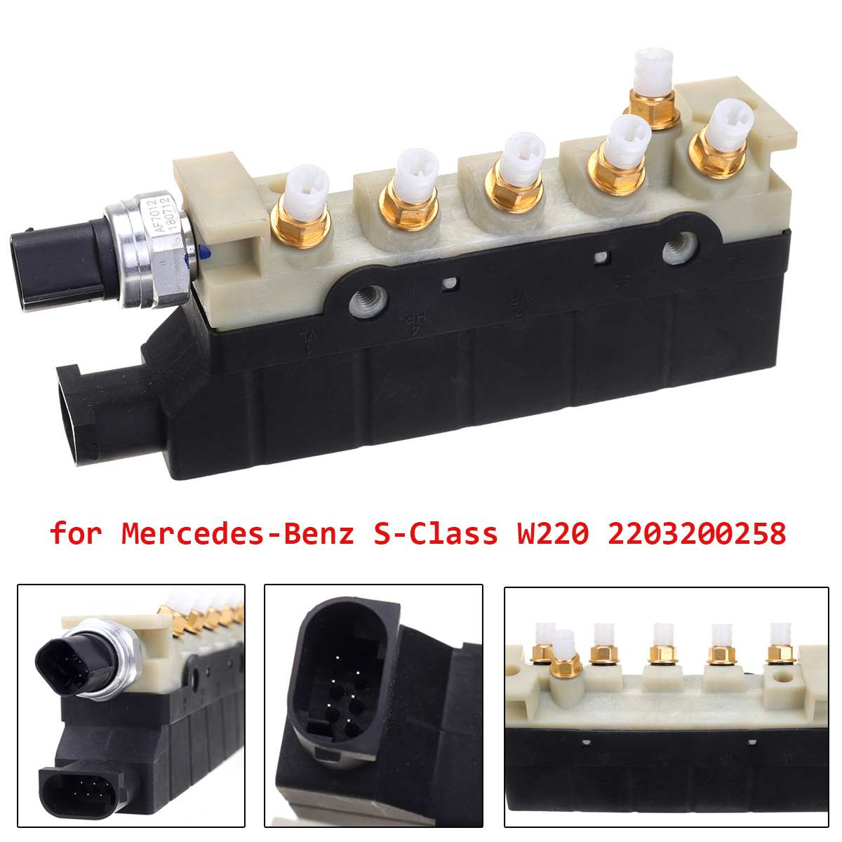 Air Suspension Compressor Valve Block 2203200258 for AMG 2000-2006 For Mercedes <font><b>Benz</b></font> S Class <font><b>W220</b></font> S350 S430 <font><b>S500</b></font> S600 S55 S65 image