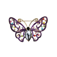 New  Arrival Hot Selling Butterfly Brooch Fantastic Imitation Pearl Multicolor Crystals Insect Scarf Pin Elegant