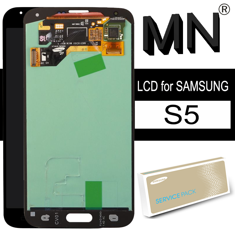 5.1'' Original LCD for SAMSUNG Galaxy S5 G900 G900F G900H Super AMOLED Display with Frame Touch Screen Digitizer Repair Parts(China)