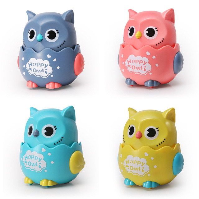 Happy Owl Wind Up Kitten Squeaky Toy  6
