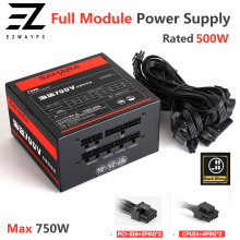 Full Module ATX PC Power Supply Server PSU Rated Real 500W Source Max 750W 24PIN Gaming Desktop Computer Supply Mining PC Source