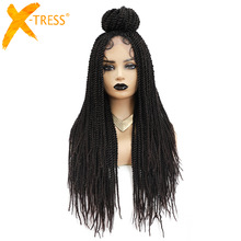 Braiding Wig Hairstyle Dreadlock Twist African-Wigs Black Women X-TRESS Baby-Hair Synthetic