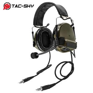 Image 2 - COMTAC TAC SKY  comtac iii silicone earmuffs dual pass version noise reduction pickup military shooting tactical headsetFG