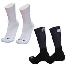 Новые силиконовые Нескользящие бесшовные велосипедные носки, мужские профессиональные аэродинамические носки, дышащие износостойкие дор...