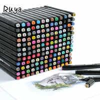 Художественный набор маркеров хайлайтеры манга Рисование для школы на основе кисть для эскиза ручки принадлежности stabilo colores канцелярский ...